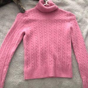 Super soft JCrew pink turtleneck